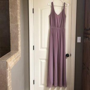 MuMu Kendall Maxi Dress Antique Rose Chiffon